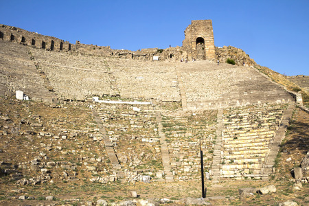 teatro antico: Il teatro antico a Pergamo in Turchia.