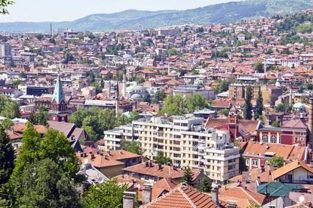 saraybosna: Cityscape of Sarajevo, Bosnia and Herzegovina Stock Photo