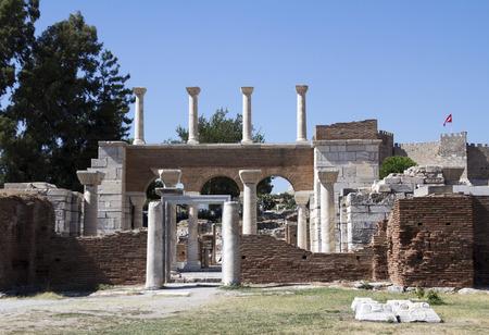 Ruins of st. Johns Basilica at Ayasuluk Hill - Selcuk Ephesus Turkey photo