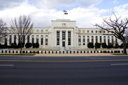 federal reserve: headquarter of the Federal Reserve in Washington, DC, USA,FED Editorial