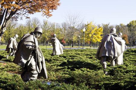 Korean War Memorial at Washington Mall in Washington DC Banque d'images