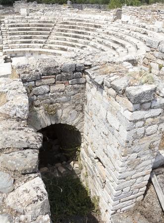 diazoma: Ancient Greek theatre at Aphrodisias, Turkey Stock Photo
