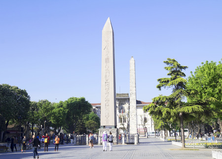 Obelisk of Thutmose III in Sultanahmet Square, Istanbul, Turkey. Editorial
