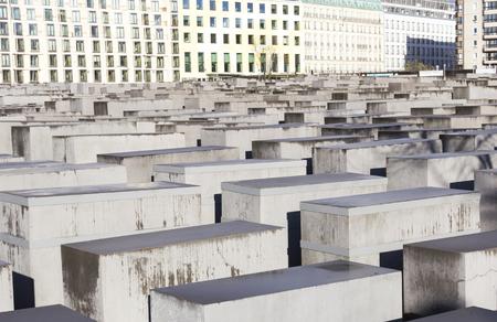 holocaust: View of the Jewish Holocaust Memorial, Berlin, Germany Editorial
