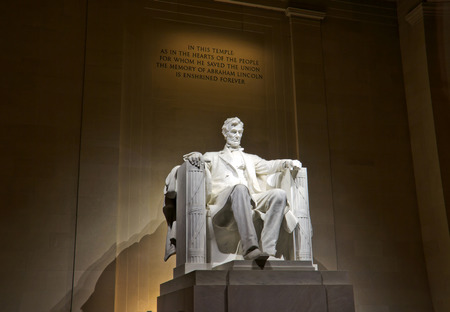 honest abe: lincoln memorial statue in Washington, DC Editorial