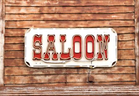 gunfights: Western Saloon sign
