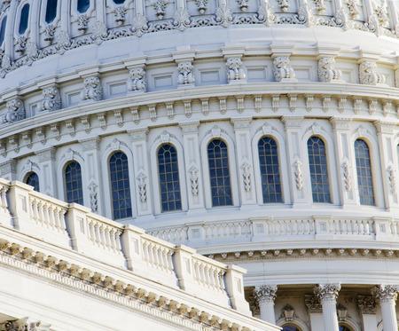 Washington DC, Capitol Building, close up view