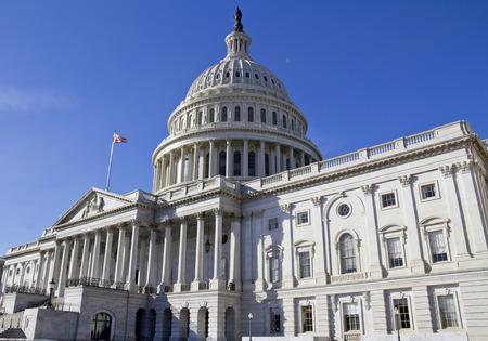 legislature: US Capitol Building, Washington DC. Stock Photo