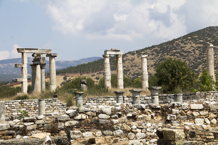 periods: with Ionic columns in Aphrodisias, Turkey build during Hellenistic and Roman periods. In Roman time it was a small city in Caria.