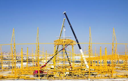 i beam: steel construction Stock Photo
