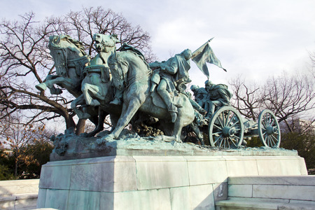ulysses s  grant: Ulysses S. Grant Memorial Cavalry at the Western base of Capitol Hill in Washington DC