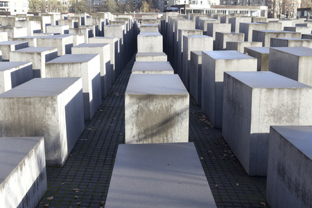 holocaust: View of the Jewish Holocaust Memorial, Berlin, Germany Stock Photo