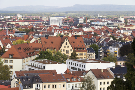 old building facade: View over Bamberg, Germany Stock Photo