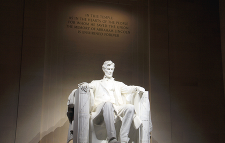 abe: lincoln memorial statue in Washington, DC Editorial