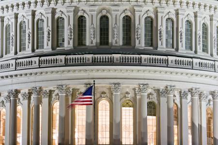 Washington DC, Capitol Building - detail, USA at night