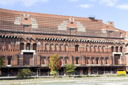 The remains of the Nazi Congress Hall or Kongresshalle at the parade grounds in Nurnberg, Germany