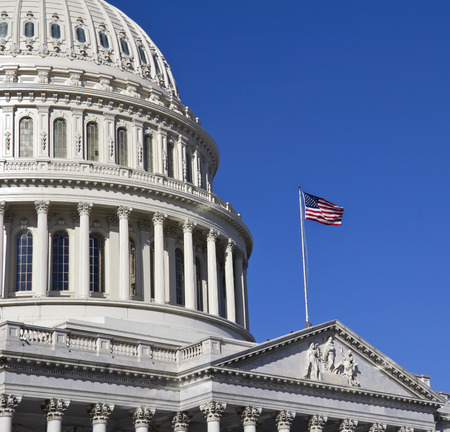 lobbyists: Washington DC, Capitol Building - detail, USA Editorial