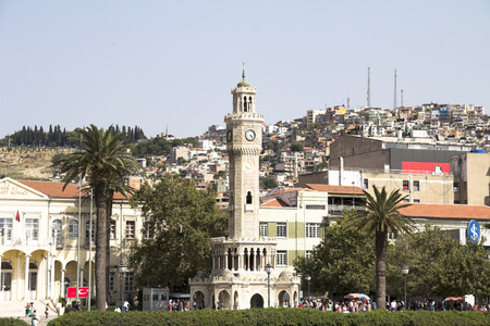 populous: A view from Konak Square, Izmir. Izmir is the third most Populous city in Turkey. Stock Photo