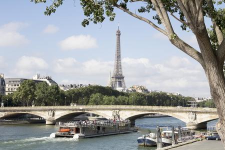 iii: Scenery from the bridge Alexanders III in Paris.