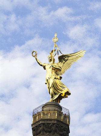 The Siegessaule is the Victory Column located on the Tiergarten at Berlin, Germany