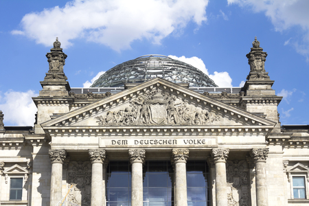 the German Parliament, in the Mitte district of Berlin, Germany
