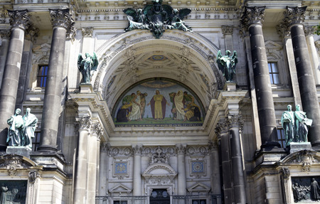 mit: BERLIN, GERMANY: decoration of entrance in the Berliner Dom in Berlin, Germany on August 13, 2016. The Cathedral is the largest to the Protestant church in Germany
