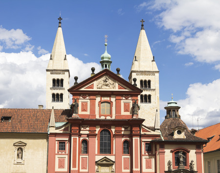 St. Georges Basilica-the oldest surviving church building within Prague Castle, Prague, Czech republic.th building now houses the 19th century Bohemian Art Collection of the National Gallery in Prague.