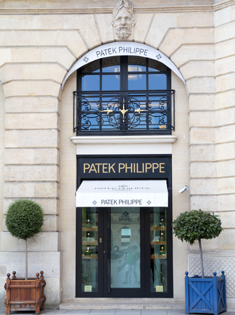 consumerism: Patek Philippe shop in place Vendome. Place Vendome is renowned for its fashionable and luxury shops and hotels
