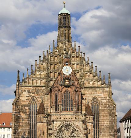 NURNBERG, Germany: Frauenkirche church of Nuremberg, Bavaria, Germany