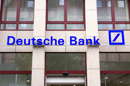 ag: Deutsche Bank logo in Nurnberg, germany.deutsch Bank AG is a German global banking and financial services company with its headquarters in Frankfurt.