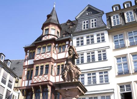 roemerberg: old town square Romerberg in Frankfurt Germany