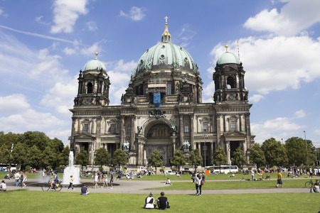 mit: Berlin Cathedral (Berliner Dom) - famous landmark on the Museum Island in the Mitte district of Berlin. It was built between 1895 and 1905. Editorial