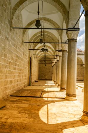 Courtyard of Ulu Mosque in Tarsus ,Turkey Stock Photo