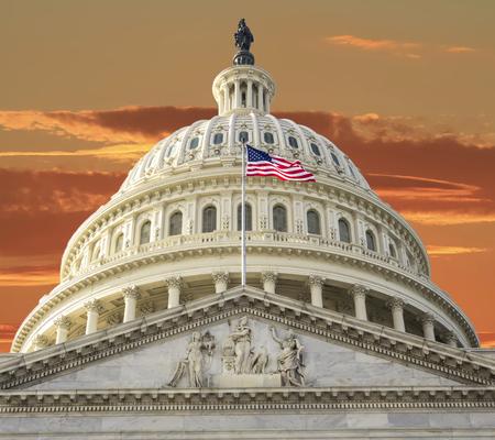Washington DC - US Capitol building Foto de archivo