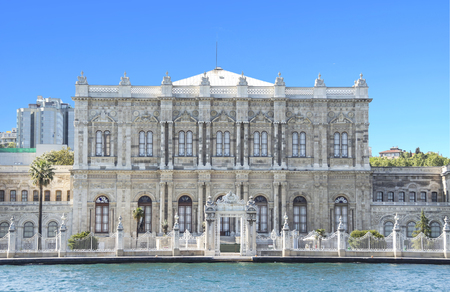 Istanbul, Turkey, Dolmabahce palace. Palace was ordered by the Ottoman Empire's 31st Sultan, Abdulmecid I, and built at 1843.