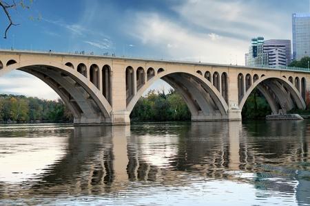 Georgetown Bridge, Washington DC over the Potomac River Stock Photo