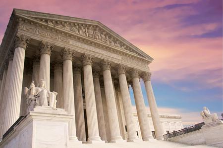 United States Supreme Court Building in Washington DC, USA