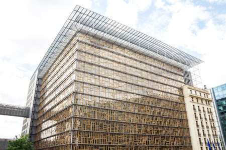 Brussels, Belgium : Europa Building in Brussels, Belgium.The Europa building becomes the home of the Council of the European Union and the European Council from 2017.