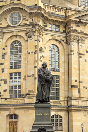 Dresden, Saxony / Germany : the Martin Luther monument in Dresden (Germany) Editorial
