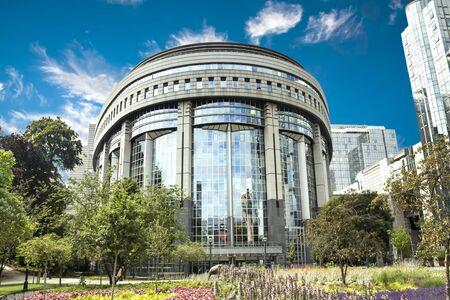 Brussels, BELGIUM - European Parliament building in Brussels, Belgium Banque d'images