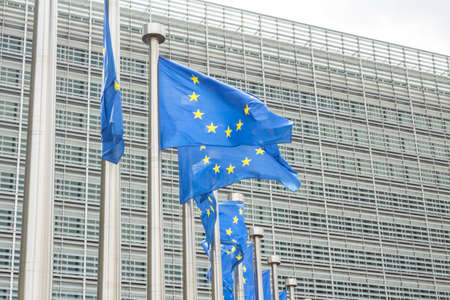 Brussels, BELGIUM: European Commission Headquarters building in Brussels, Belgium, Europe