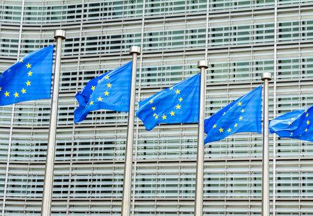 Brussels, BELGIUM: European Commission Headquarters building in Brussels, Belgium, Europe Banque d'images