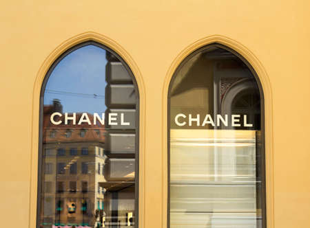 Munich, Germany : Chanel shop in Munich. Chanel is a fashion house founded in 1909 specialized in haute couture and luxury goods, on August 26, 2017 in Munich.