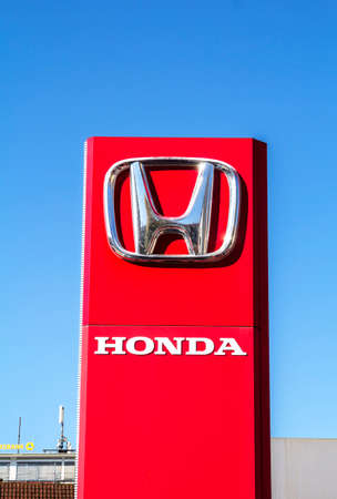 Nurnberg: Honda Motor Co. Logo and Sign. Honda Manufactures Among the Most Reliable Cars in the World