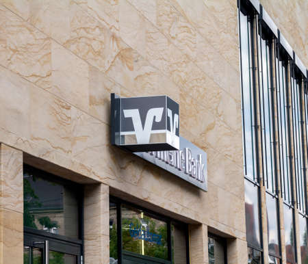 Furth, GERMANY : Volksbank branch. Volksbank was founded in 1850