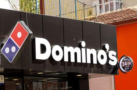 Ankara, Turkey : Domino's is an American chain of pizza restaurants. The Australian master franchisee Domino's Pizza Enterprises operates more than 1500 restaurants. Editorial