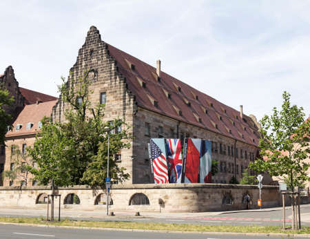 NURNBERG,GERMANY: The courthouse in Nuremberg, where the Nuremberg trials took place, The Nuremberg trials were a series of military tribunals, held by the Allied forces after WWII
