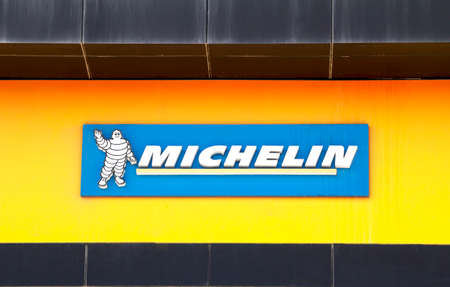Ankara, Turkey : Michelin logo. Michelin is a tire manufacturer based in Clermont-Ferrand in France and it is one of the three largest tire manufacturers in the world.