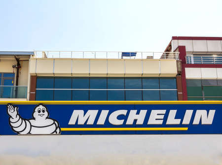 Ankara, Turkey: Michelin logo. Michelin is a tire manufacturer based in Clermont-Ferrand in France and it is one of the three largest tire manufacturers in the world. Redactioneel