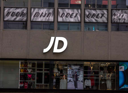 ROTTERDAM, NETHERLANDS : JD Sports store signage. The company is the UK's leading sports fashion retailer